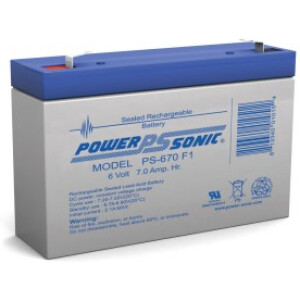 Power Sonic 6V 7,0Ah PS-670
