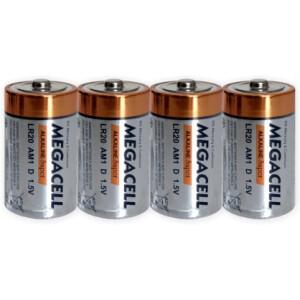 Baterija Megacell LR20 - D - 1.5V alkalna 4 kom.