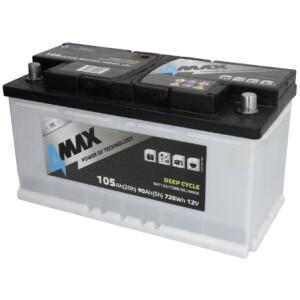 Akumulator 4-Max deep-cycle 105Ah stacionarni