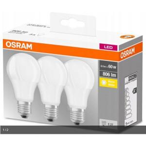 Osram LED žarulje 8.5W E-27 2700K 3/1